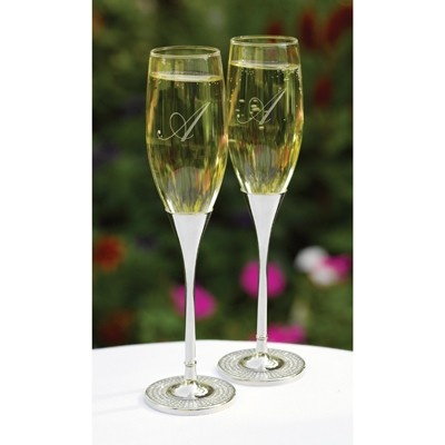 The Thank You Company - Diamond Dust Champagne Flutes, 2pc, $39.99 (http://www.thankyou.on.ca/copy-of-double-hearts-crystals-wine-glasses-pair/)