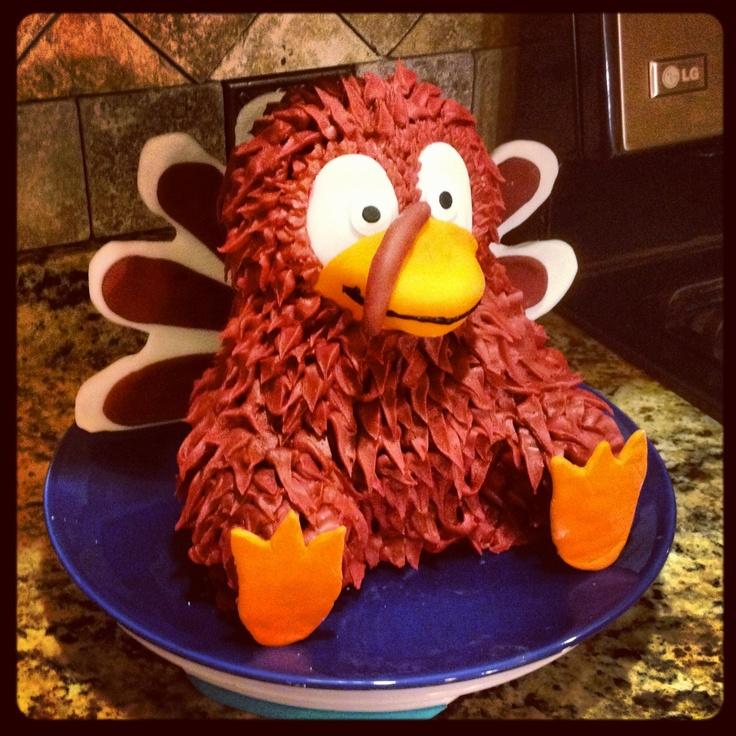 Virginia Tech Hokie bird cake