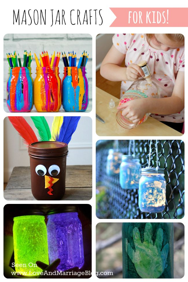 I really love mason jar crafts for kids because I think you can turn them into the cutest creations.