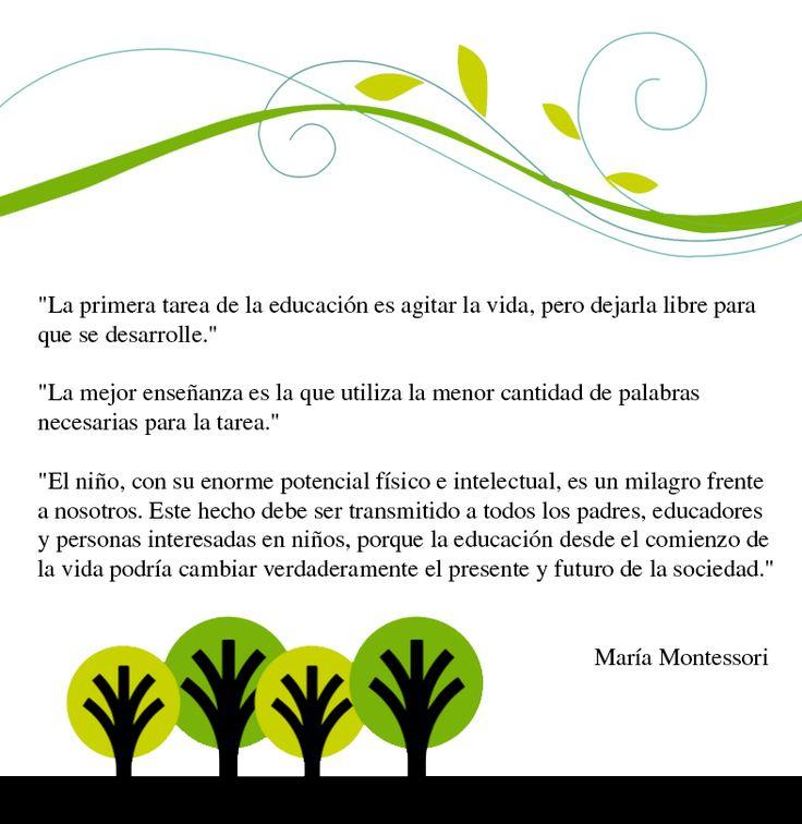 Frases educativas de María Montessori