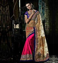 BLOUSE DESIGNS 2015 LATEST WEDDING SAREE DESIGN 2015 WITH PRICE #VDRUK106A Rs. 7,100.00