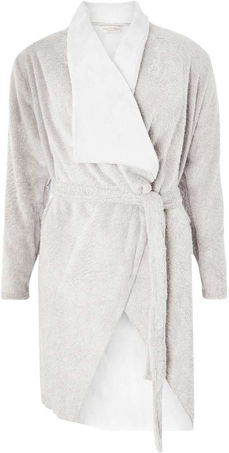 Grey Waterfall Dressing Gown