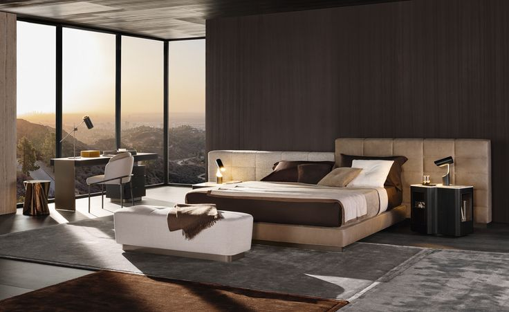 #Lawrence bed by #Minotti
