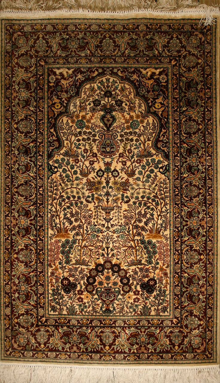 Handmade Turkish Hereke Silk Rug (Ref: 1944) by Little-Persia: http://www.little-persia.com/?action=view_rug&cnt=18&id=1944