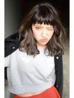ヘア デザイン ヴェルダ(hair design Verda)◇スモーキーアッシュミディ◇×Sakie