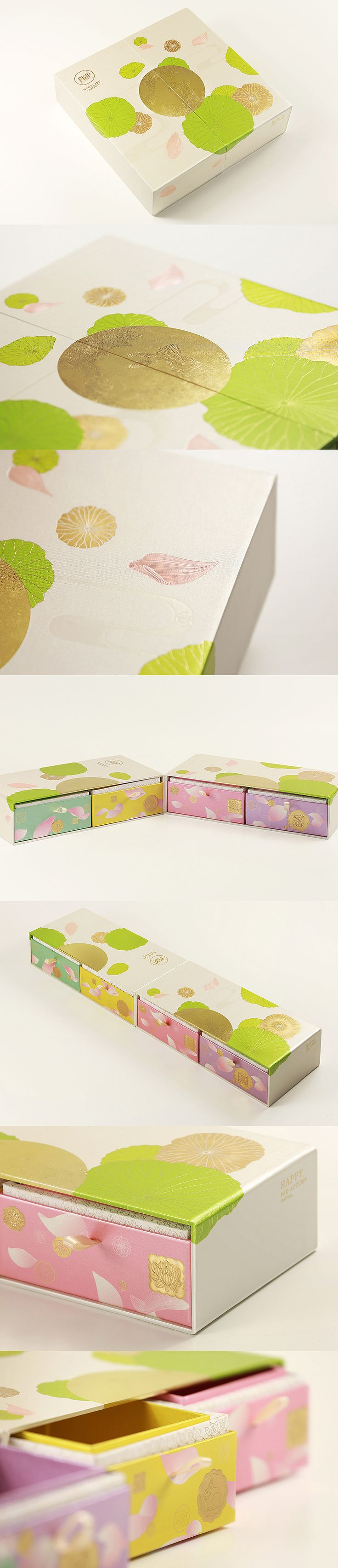 When Classic meets Modern  Engaged by Polytrade Paper, various prototypes are designed. This prototype of traditional mooncakes gift box combines all classical elements of the festival like Jade Rabbit, full moon and lotus, in a stylish presentation. It is designed as an antique Chinese chest but in modern appearance, making the festival and its traditions contemporary and classy.