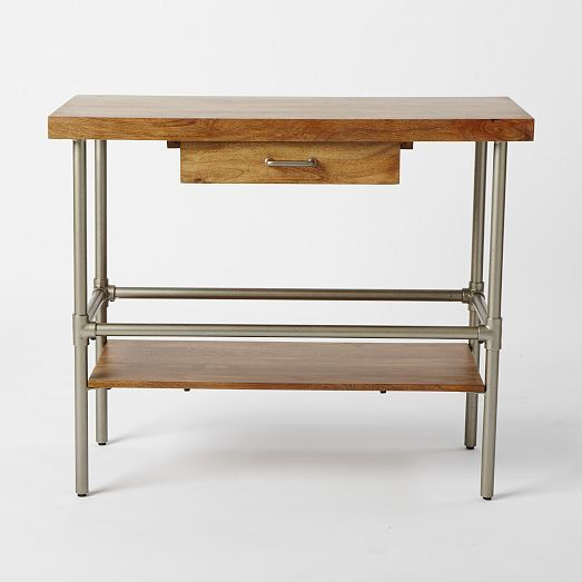 Industrial Kitchen Island | West Elm Really loving this, but I want one with another shelf!