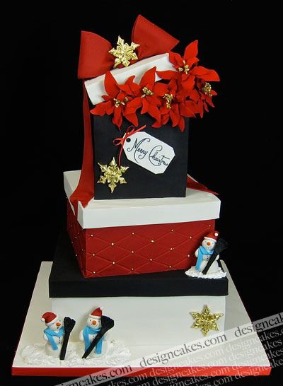 Cake Decorating Gift Box : 3702 best images about Christmas/Winter Cakes on Pinterest