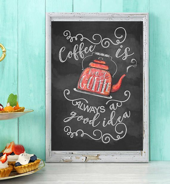 Coffee Printable Art Instant Download Kitchen poster