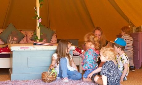 2017 UK to: North Yorkshire: 2- or 4-Night Bell Tent Glamping for Four with Option for Prosecco at Humble Bee Farm UK 2017 Deal:  for just: £59.00