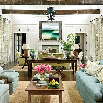 Balance Rustic Elements - 101 Living Room Decorating Ideas - Southern Living