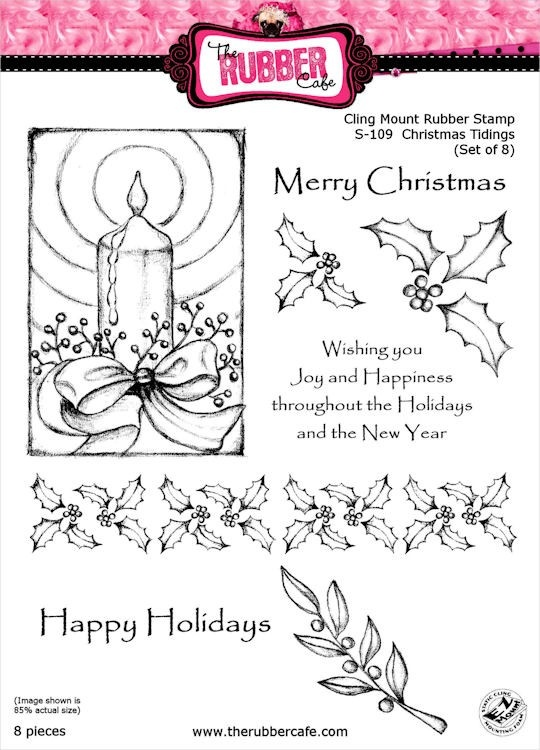 Christmas Tidings Rubber Stamp Set from The Rubber Cafe