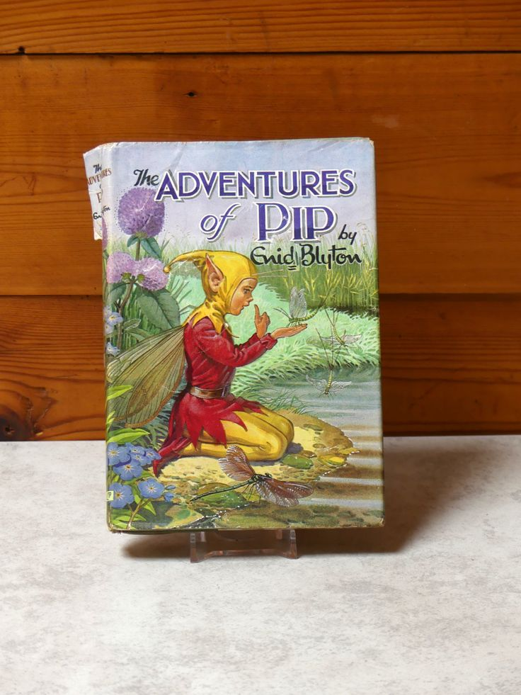 """Vintage 1964 Enid Blyton Hardcover Children's Book with Original Dust Jacket Fifth Impression 1968 """"Adventures of Pip"""" by JessaBellas on Etsy"""