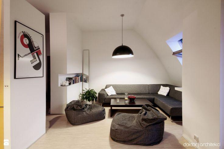 Salon w prostej formie - zdjęcie od doktor architekci - Salon - Styl Minimalistyczny - doktor architekci
