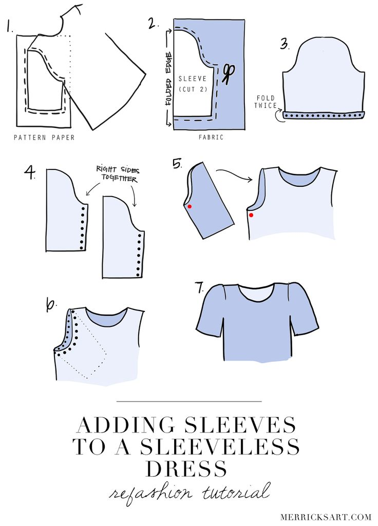 Merrick's Art // Style + Sewing for the Everyday Girl: DIY FRIDAY: ADDING SLEEVES TO A SLEEVELESS DRESS (REFASHION TUTORIAL)