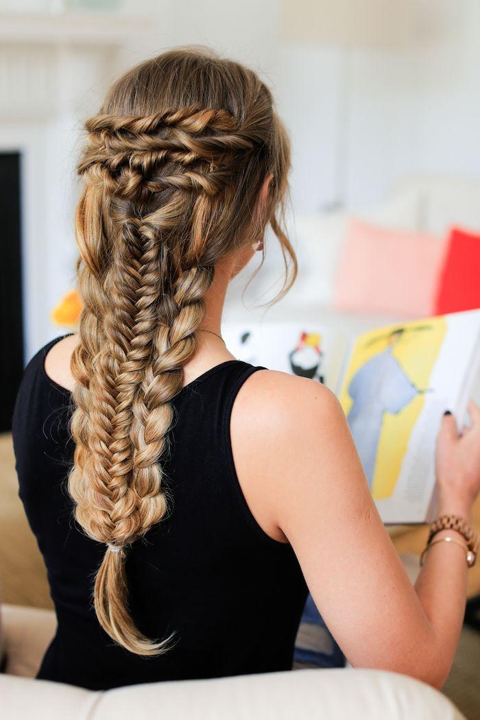 1001 Inspirierende Ideen Fur Einfache Flechtfrisuren Zum Selbermachen Geflochtene Frisuren Flechtfrisuren Haarfrisuren