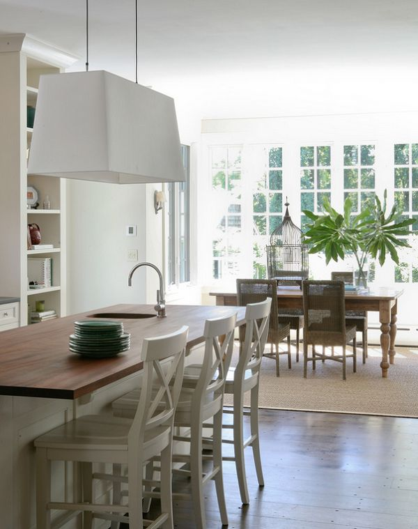 Calling it Home: A Hamptons Cottage - open kitchen and dining
