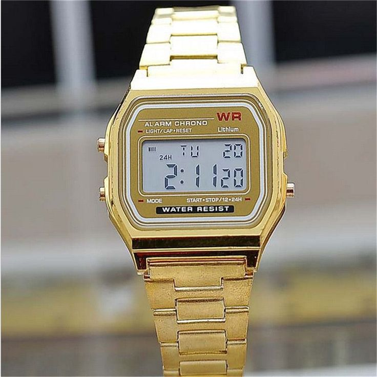 Fashion gold silver Silicone Couple Watch digital watch square military men/ women dress sports watches