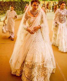 White Bridal lehngha
