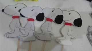 ARTES DA NANDA DA BAHIA : Centro de mesa Snoopy
