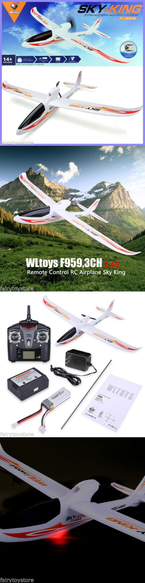 Other RC Model Vehicles and Kits 182186: Wltoys F959 Led Rc Helicopter Aircraft 3Ch 2.4G Rtf Remote Control Airplane Us -> BUY IT NOW ONLY: $45.59 on eBay!