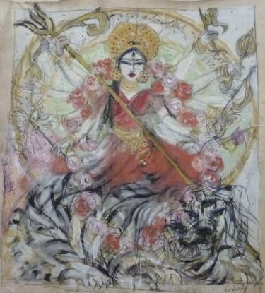 "Saatchi Art Artist melora walters; Painting, ""Durga  (winter sale !!!!!)"" #art"