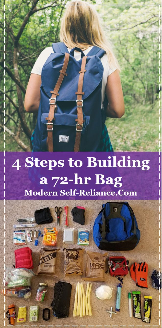 Pack a 72-hr bag with everything you need to survive. A bug out bag or get home …