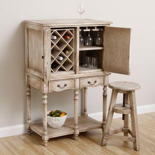 Handmade Cottage Wine Bar Cabinet (Indonesia) -@ Overstock