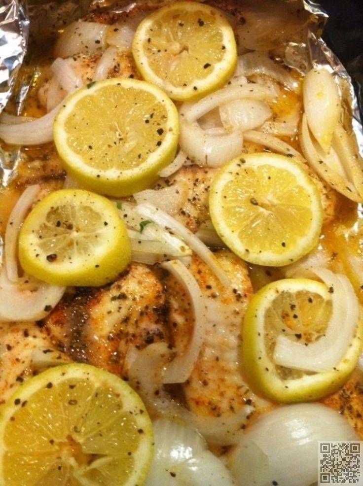 11. au four #Tilapia au citron et #oignons - 26 recettes de #Tilapia…