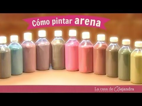 Como pintar arena DIY Alejandra Coghlan - YouTube                                                                                                                                                                                 Más