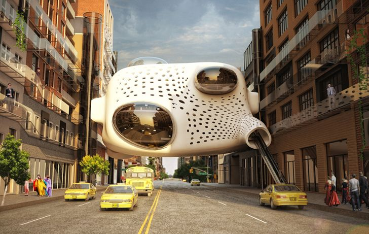 Hanging between buildings like a parasite, ZA Architects' Heart of the District is a unique hotel lobby that engages the city streets, activating unused space, while connecting to scattered hotel rooms in existing buildings.