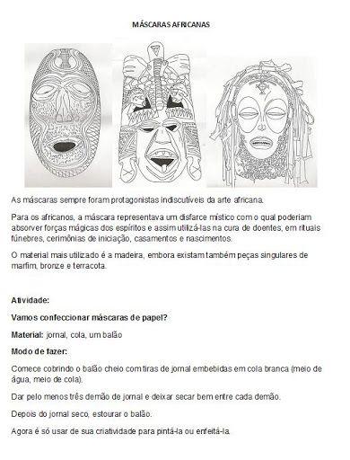 atividade+mascaras+africanas+consciencia+negra.jpg 390×512 pixels