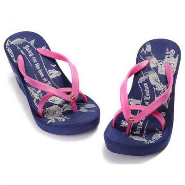 """http://www.tracksuitsaleonline.com/juicy-couture-juicy-for-the-love-of-couture-navy-flip-flops-p-3.html         Juicy Couture """"Juicy for the love of couture"""" Navy Flip Flops"""