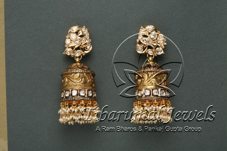 Nakshi Jhumka   Tibarumal Jewels   Jewellers of Gems, Pearls, Diamonds, and Precious Stones
