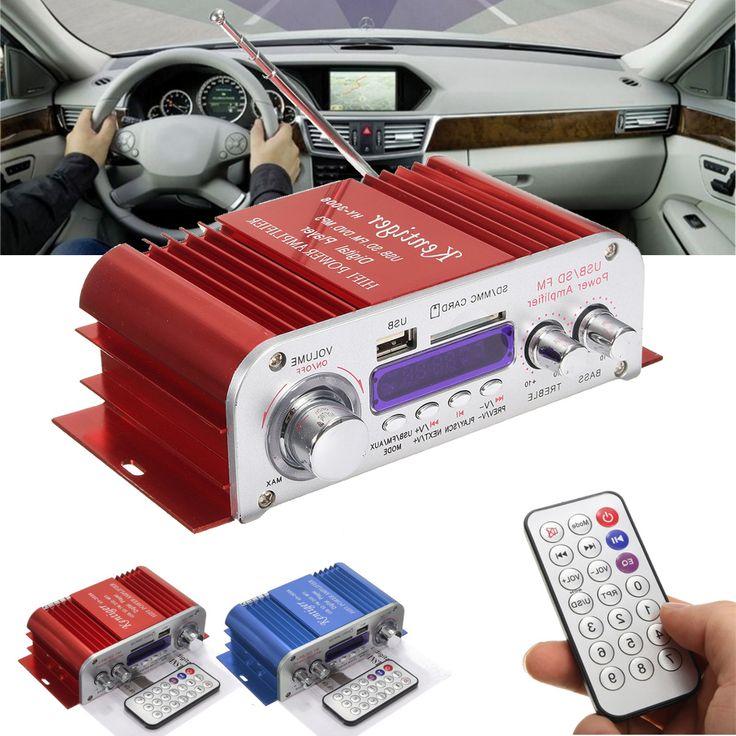 Kentiger HY3006 4 Channel Hi-Fi Audio Stereo Mini Amplifier Car Home MP3 USB FM SD w/ Remote 12V