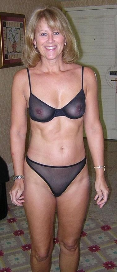 Can mature milf sheer see through panties