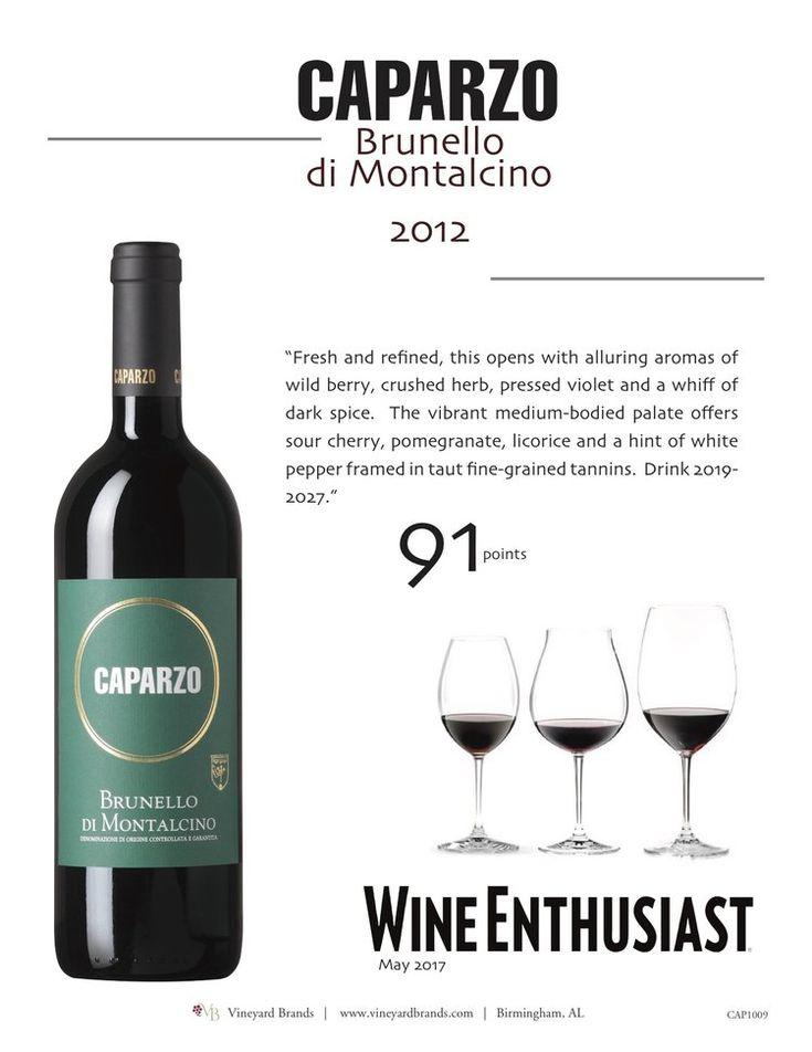 Caparzo Brunello di Montalcino 2012 - 91 points - Wine Enthusiast