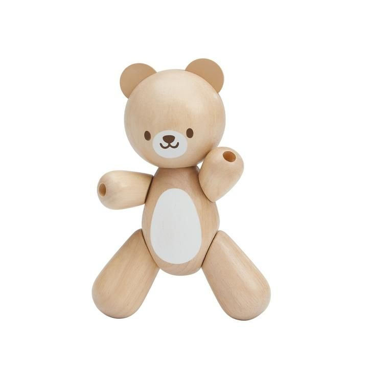 Plan Toys Bear Wooden Baby Toy Entertainment Play Wooden