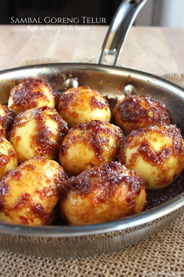 Sambal Goreng Telur – Eggs in Spicy Chili Sauce