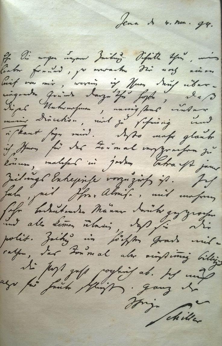 Schiller handschrift