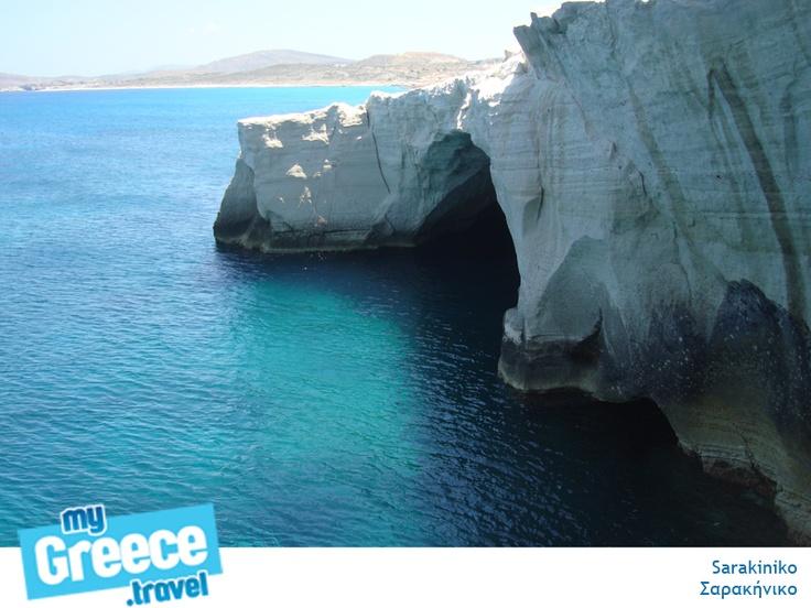 The famous Sarakiniko in Milos by www.milos-tours.gr/en/