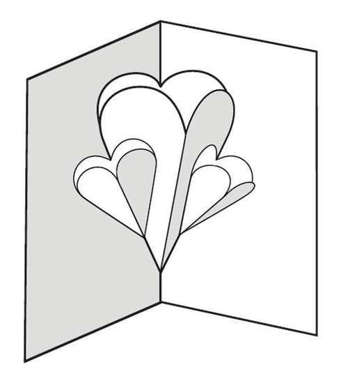 Make a Pop-up Card of Hearts | Pop up card templates ...