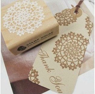 1 Pcs Korea DIY Wood Round Rubber Stamp by prettyM on Etsy, $3.90