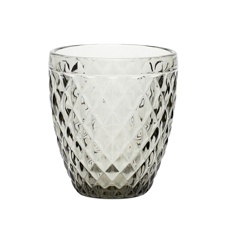 Smoked tealight glass with pattern. Product number: 480111 - Designed by Hübsch