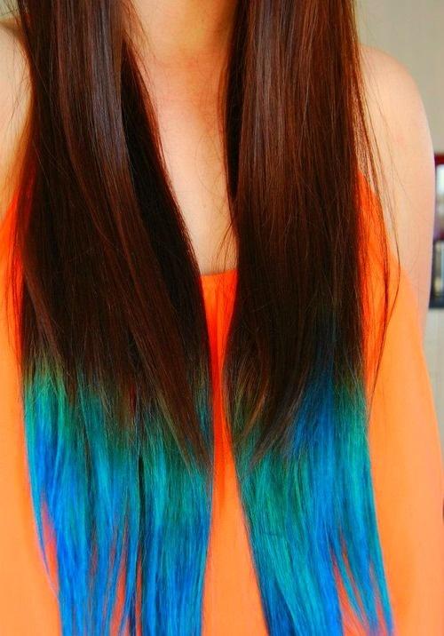 Beautiful Blue Ombre Hair #briteorganix