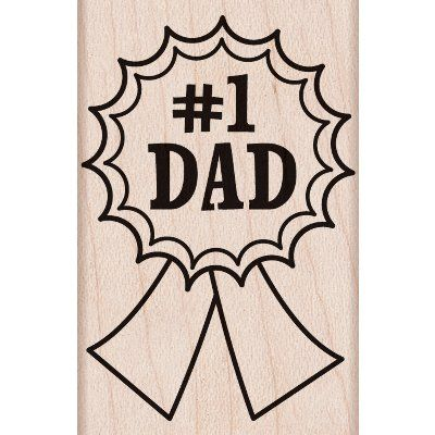 """Hero Arts Mounted Rubber Stamp 2.25""""X1.5""""-Number One Dad - ValuCrafts.com"""