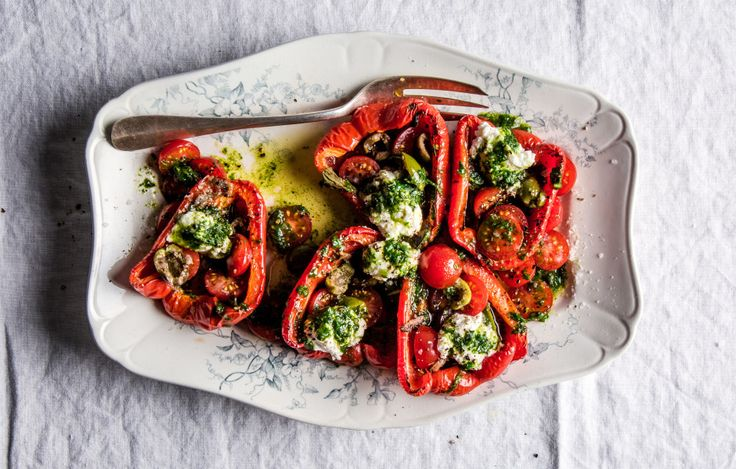 This high-summer salad hits every note on the sweet (red pepper), sour (tomato)…
