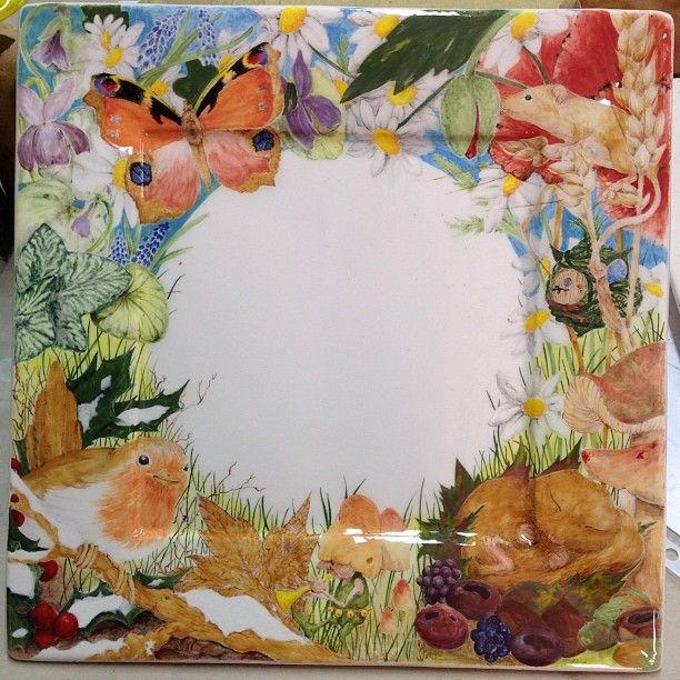 Elena Raffaelli #ceramica #ceramics #fiori #flowers #birds #butterfly #gnomo #gnome #elfo #elf #fate #fairies