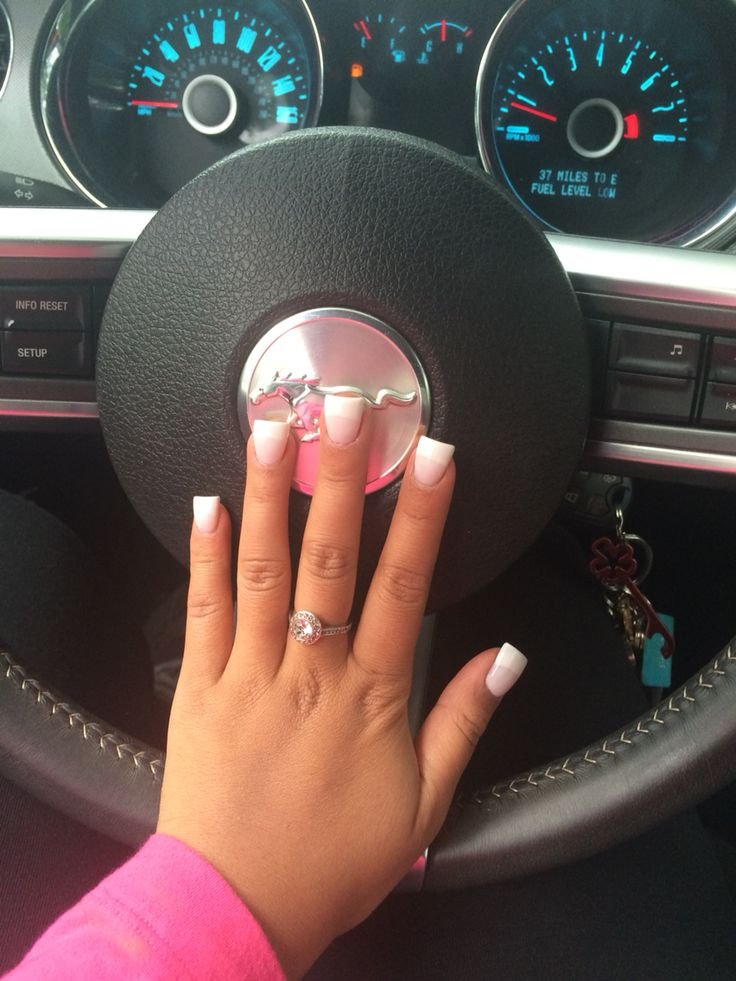 Wide square French nails
