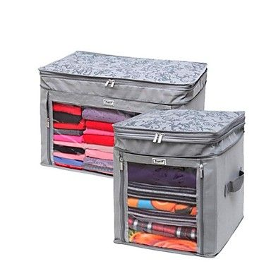 32 * 35 * 38 cm Bamboo Carbon Fiber Nonwovens Increased Type Clothes Storage Box Two Groups – USD $ 65.99